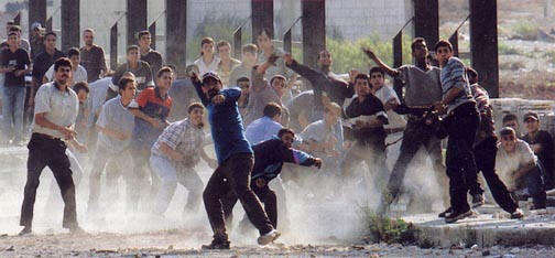 First Intifada - Rock throwing