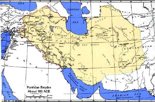 Parthian Empir Map