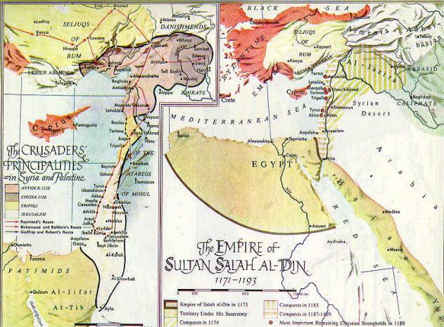 map: Saladin Conquests
