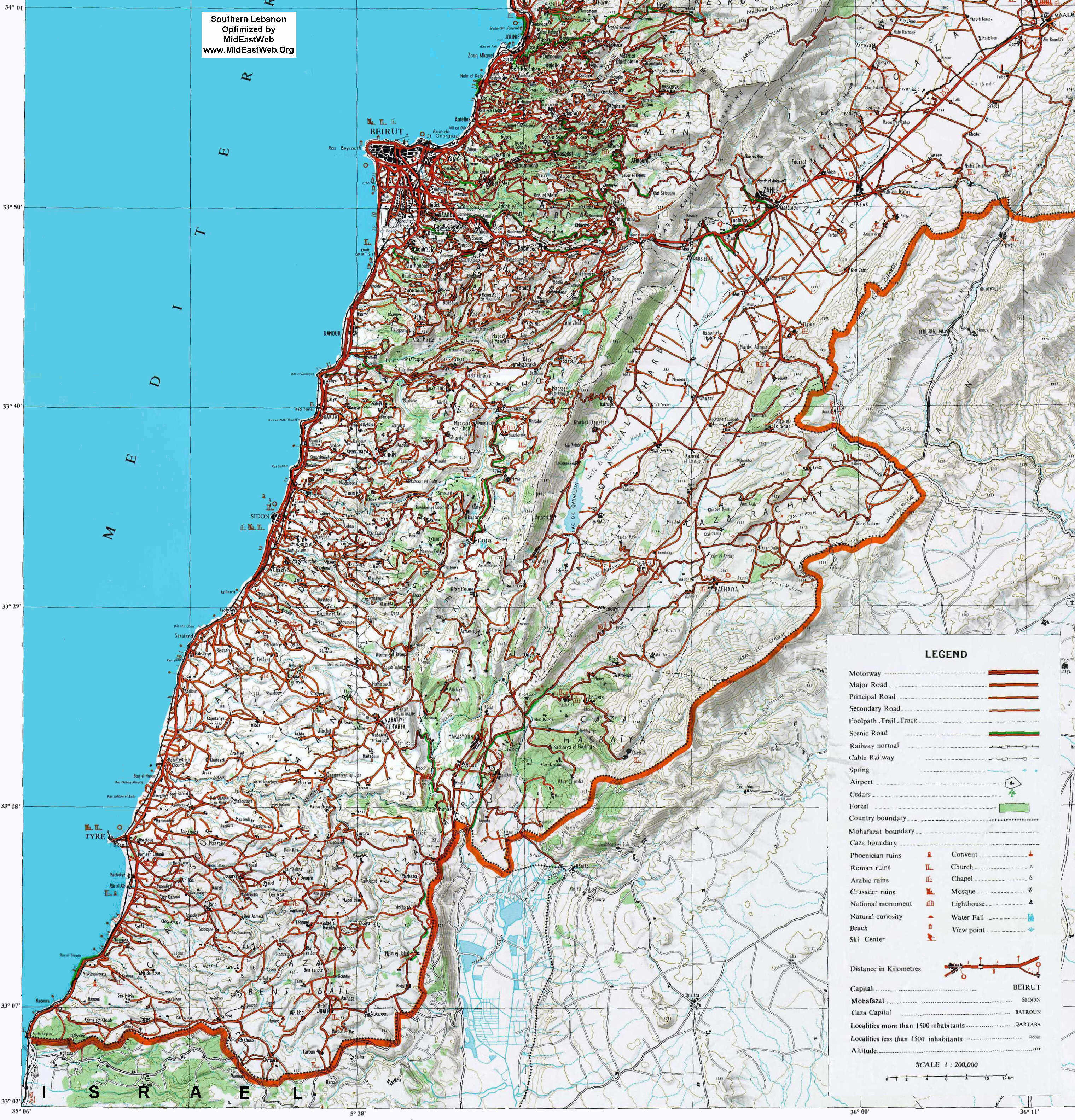 Map of South Lebanon - Detailed Beirut On Map on nicosia on map, doha on map, zagros mountains on map, cairo on map, baghdad on map, amman on map, west bank on map, kabul on map, muscat on map, tel aviv on map, damascus on map, manama on map, middle east map, riyadh on map, istanbul on map, tehran on map, sanaa on map, dubai on map, lebanon on map, harare on map,