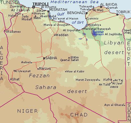 Middle East Map Libya