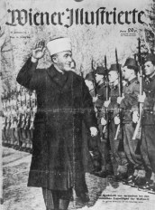 Palestinian Grand Mufti Haj Amin El Husseini (Hussayni) with Nazi Troops