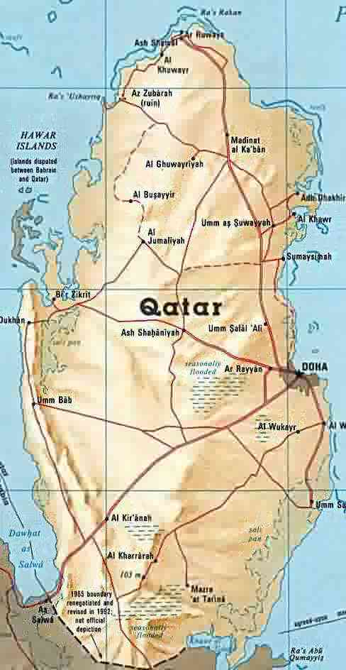 map of qatar. qatar.jpg (35869 bytes)