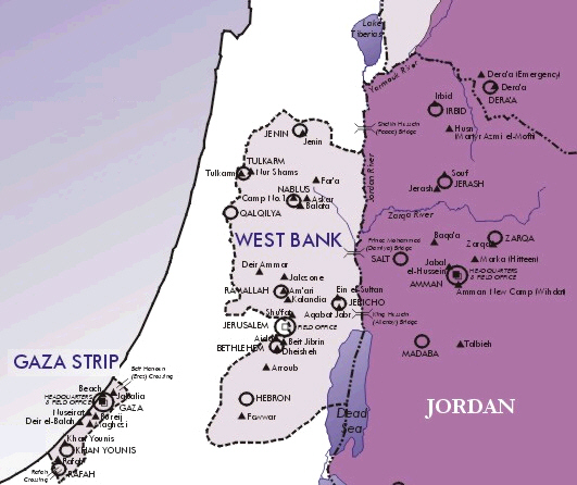 Map - Palestinian Refugee Camps