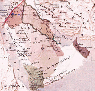 Map of Arabia about the time of Muhamed